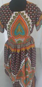 100% De Qualité African Print Dress-afficher Le Titre D'origine 100% De MatéRiaux De Haute Qualité