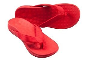 Pro11-Wellbeing-orthotic-sandals-arch-support-plantar-Fasciitis-heel-pain-RED