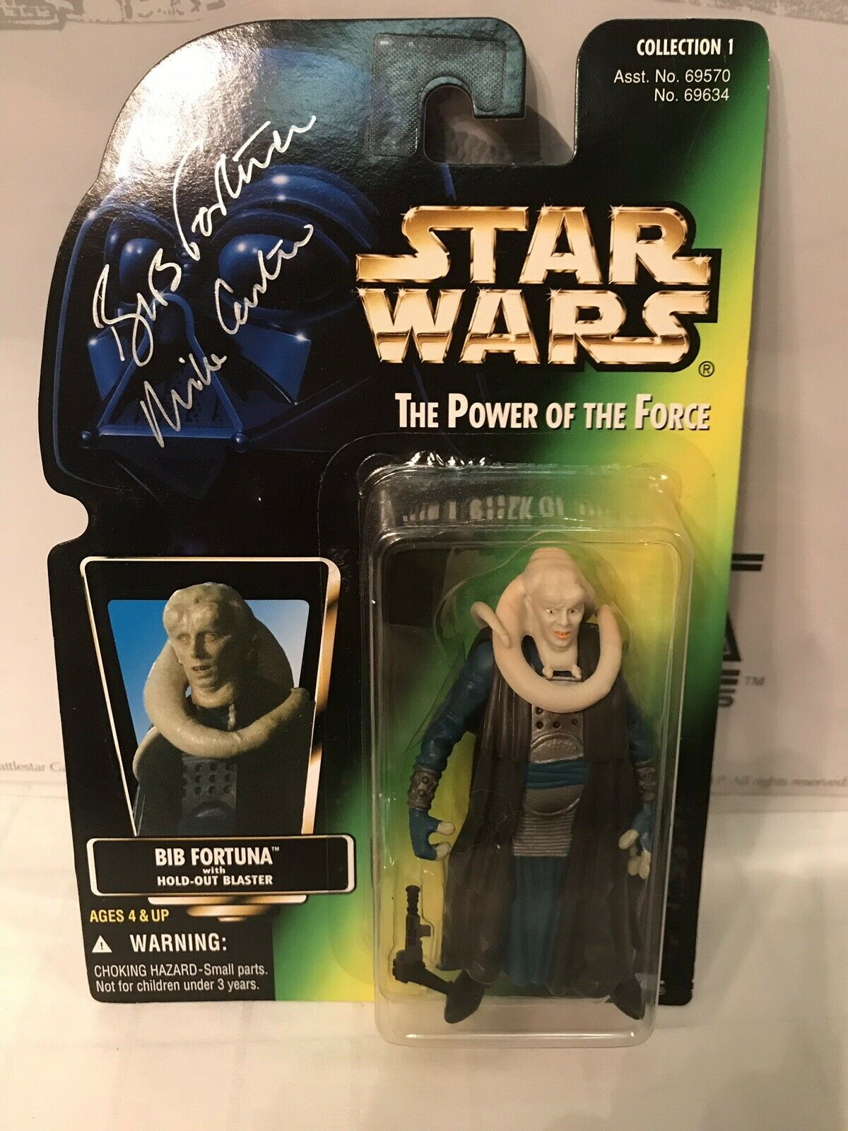 Star Wars The Power Of The Force Bib Fortuna Autographed