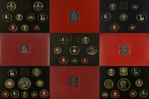 ROYAL MINT DELUXE RED PROOF COIN YEAR SET 1985 TO 2007 SELECT YOUR YEAR