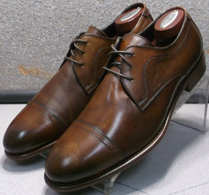 241940 MSi60 Men's Shoe Size 10 M Brown Leather Made in Italy Johnston & Murphy