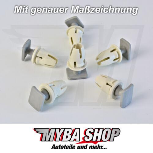 10x Clips Halterung Schienen Befestigung mit TĂźlle Mercedes BenzA0019887681