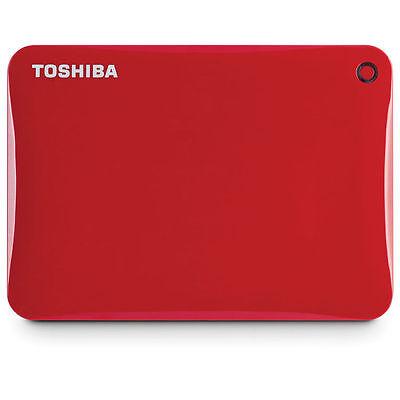 Toshiba Canvio Connect II 1TB External 2.5 Portable Hard Drive HDD USB 3.0 Red