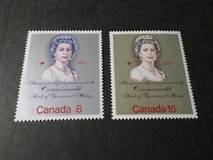 Kanada-1973-Briefmarken-Mi-529-530-Reine-Queen-Elisabeth-Neu-VF-MNH