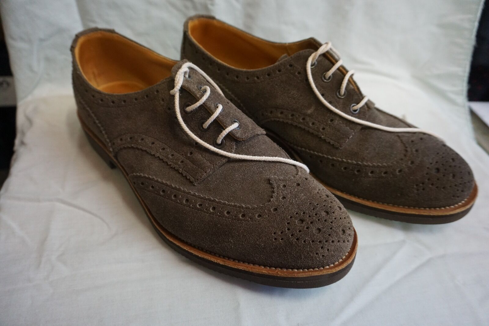 Trickers Uomo NEW 'Bourton' nonslip brogue Repello Suede Brown Size 11 UK/12 USA