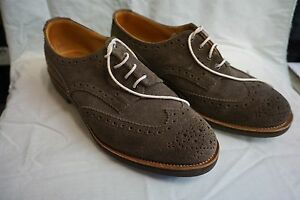 Trickers-Mens-NEW-039-Bourton-039-nonslip-brogue-Repello-Suede-Brown-Size-11-UK-12-USA