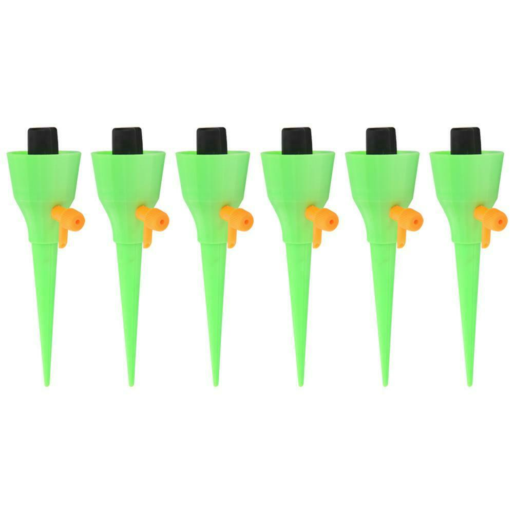 Automatic Drip Watering Spike for Indoor Plants Irrigation Kit (Green 6pcs)