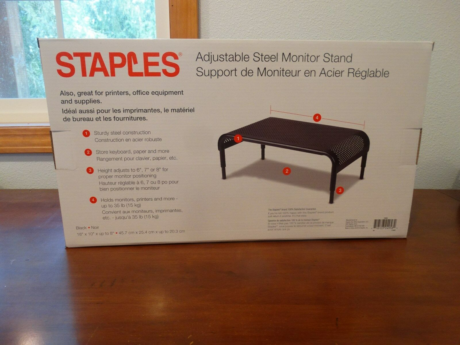 Staples brand steel adjustable monitor laptop printer stand black ebay