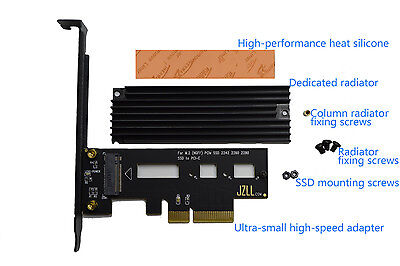 Up to 3300M/s PCI-E 4X for M.2 SSD ADAPTER SM961 SM951 950Pro Radiator version