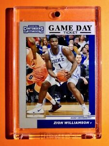 Zion-Williamson-ROOKIE-PANINI-CONTENDERS-DRAFT-PICKS-GAME-DAY-TICKET-RC-Mint