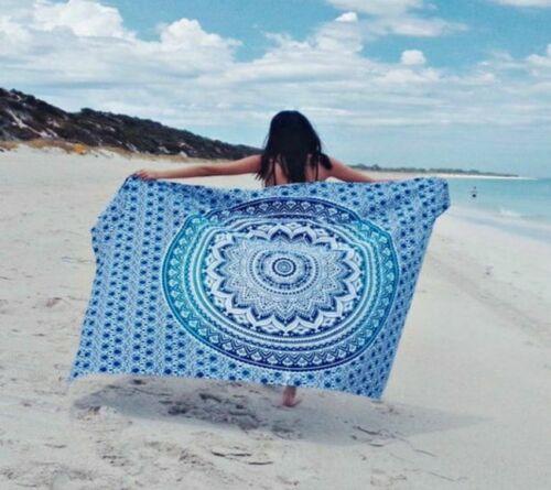 Blau Ombre Mandala Twin Wandbehang Zimmer Deko Tuch 100/% Baumwolle 135*213cm