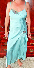 INTIMATELY YOURS BY KAYSER ELEGANT DESIGNER VINTAGE SEA MIST NIGHTGOWN S NOS NWT