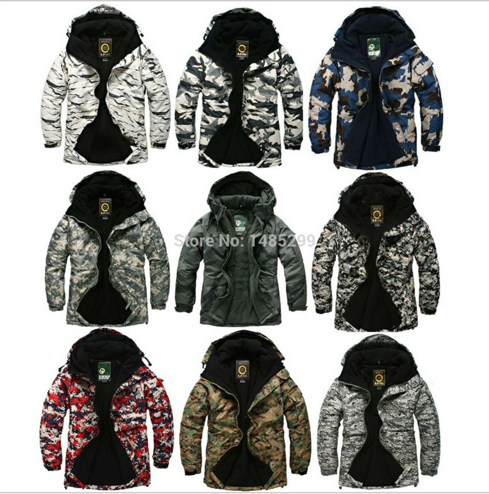 Mens Southplay Premium Waterproof Camo Military Ski-Snowboard Jackets MultiFarbe