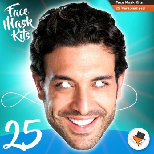 25 masques Photo À faire soi-même Kits personnalisés pour Hen parties Anniversaires Stag Party