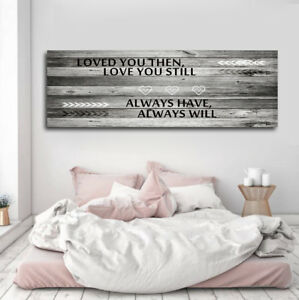 Details About Love Motivational Quote Canvas Wall Art Prints Home Bedroom Decoration