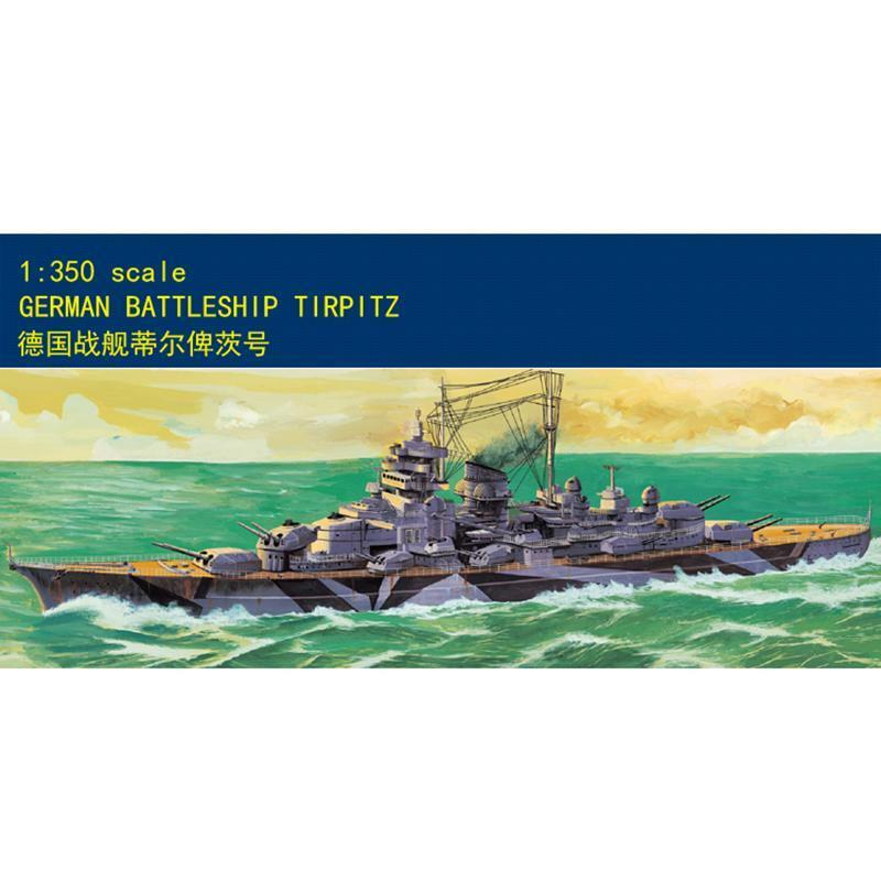 80602 Kit Static Motor Ship 1 350 German Tilbiz Battleship Warship MiniHobby