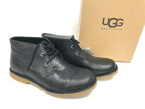 ae159ffe817 Details about Ugg Australia Leighton Leather Chukka Ankle Desert Lace Boots  3275 Black Men's