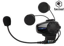 Sena SMH10 Bluetooth Intercom Single Motorcycle Helmet Kit - Open Face/Flip Up