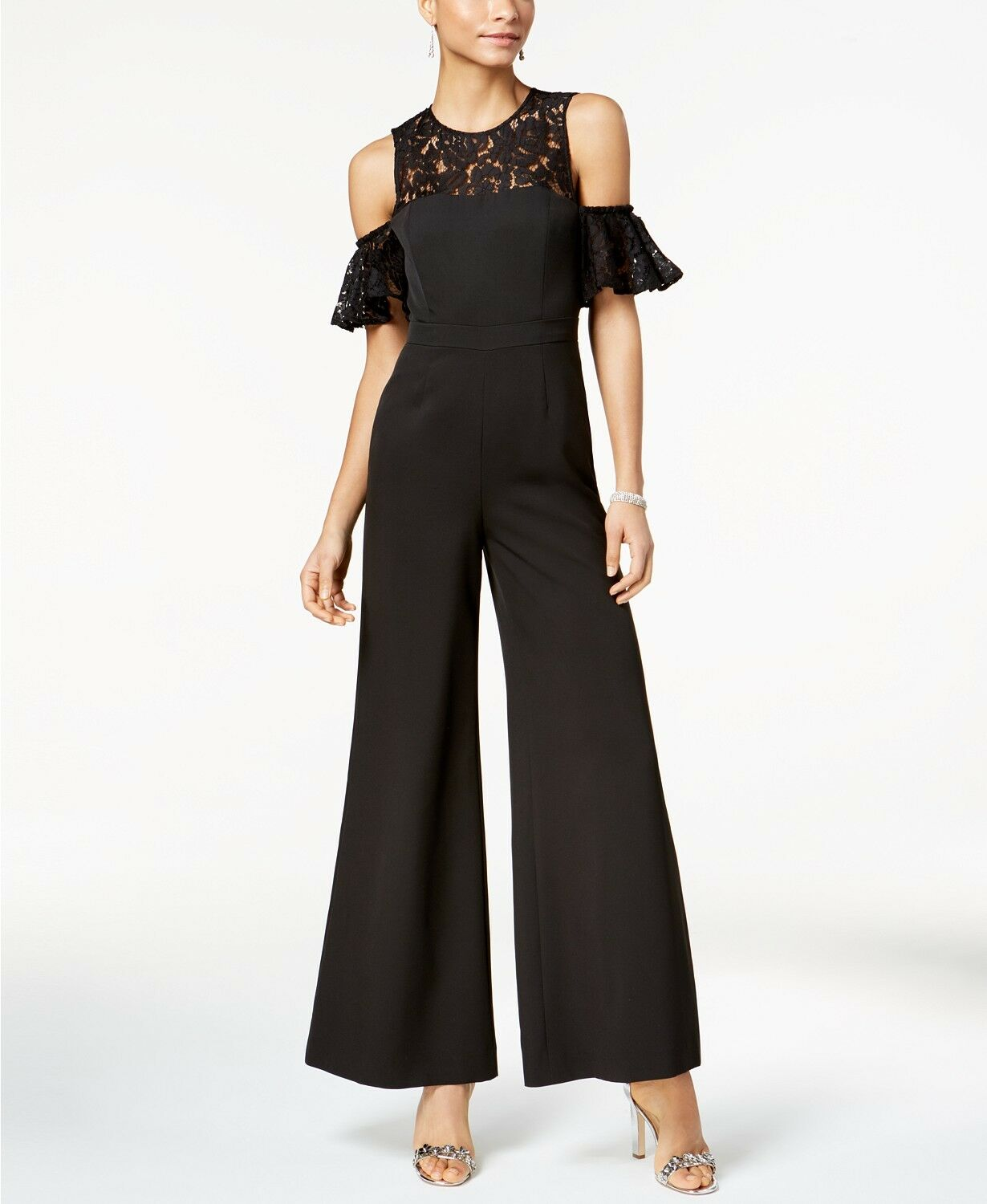 Fame and Partners The Carnation Lace-Trim Jumpsuit Size 0 MSRP  249 GB 268 NEW