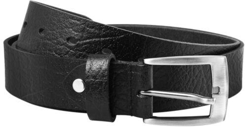 Herrenledergürtel Nr.19 Länge 90-120 cm kürzbar schwarz Leonardo Verrelli