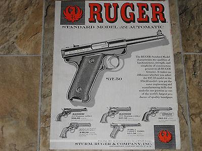 "Ruger  advertising poster Rifles,Pistols,Revolvers,Shotgun POSTER 36-1//2/"" L 12/"""