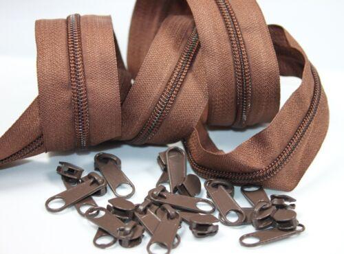 3 M Fermeture éclair Sans Fin 15 Zipper 5 mm claudication largeur RV 30 mm Choix De Couleur