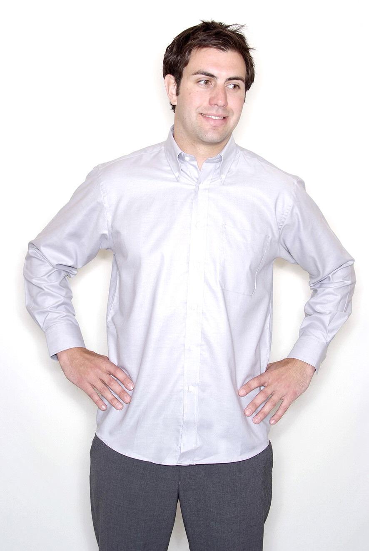 Fruit of the the the Loom - Long Sleeve Oxford Shirt - SS402 - Button Down Collar | Shopping Online  | Hohe Qualität und günstig  66de65