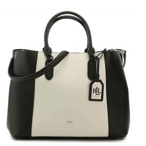 562d60f6f5 NWT LAUREN RALPH LAUREN Dryden Marcy Leather Tote Handbag Black ...