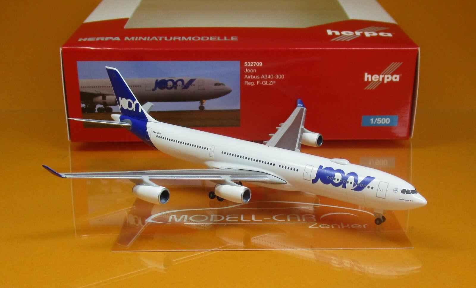 Herpa Wings Wings Wings 532709 joon airbus a340-300 scale 1 500 d521f4