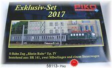 """PIKO 58213 S-Bahn Zug """"Rhein-Ruhr"""" mit E-Lok BR 141 + Silberlinge Wechselstrom"""