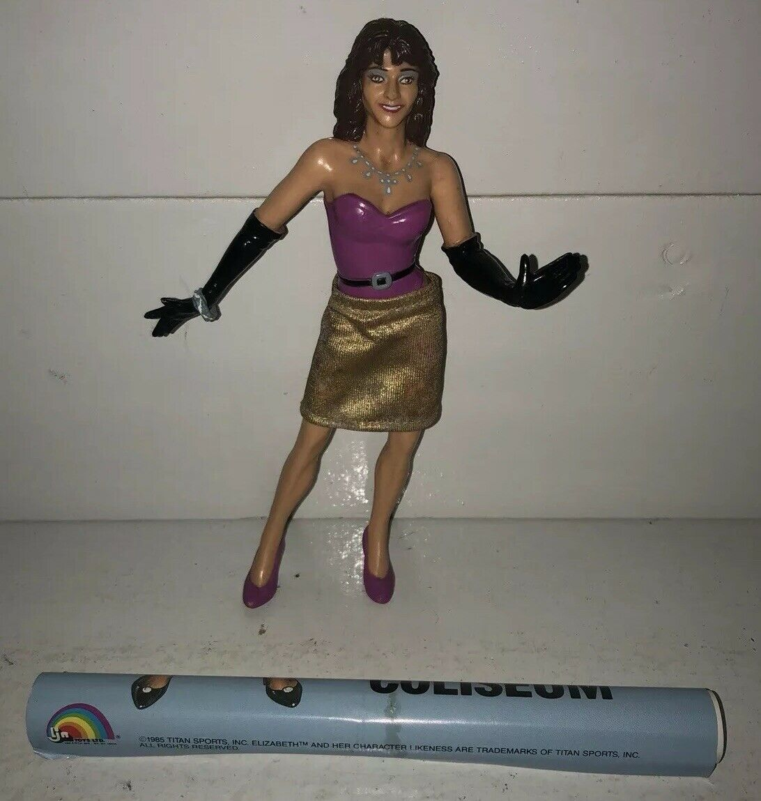 VGC LJN WWF WWE Wrestling Superstars MISS ELIZABETH Figure LIZ w SKIRT & POSTER