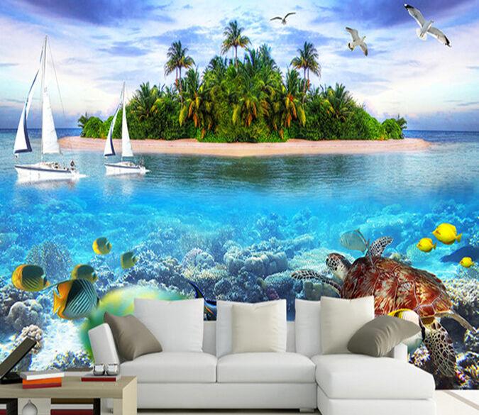 3D Isole 355 Parete Murale Foto Carta da parati immagine sfondo muro stampa