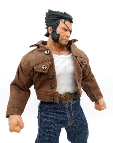 Brown Denim Jacket for Mezco Logan No Figure