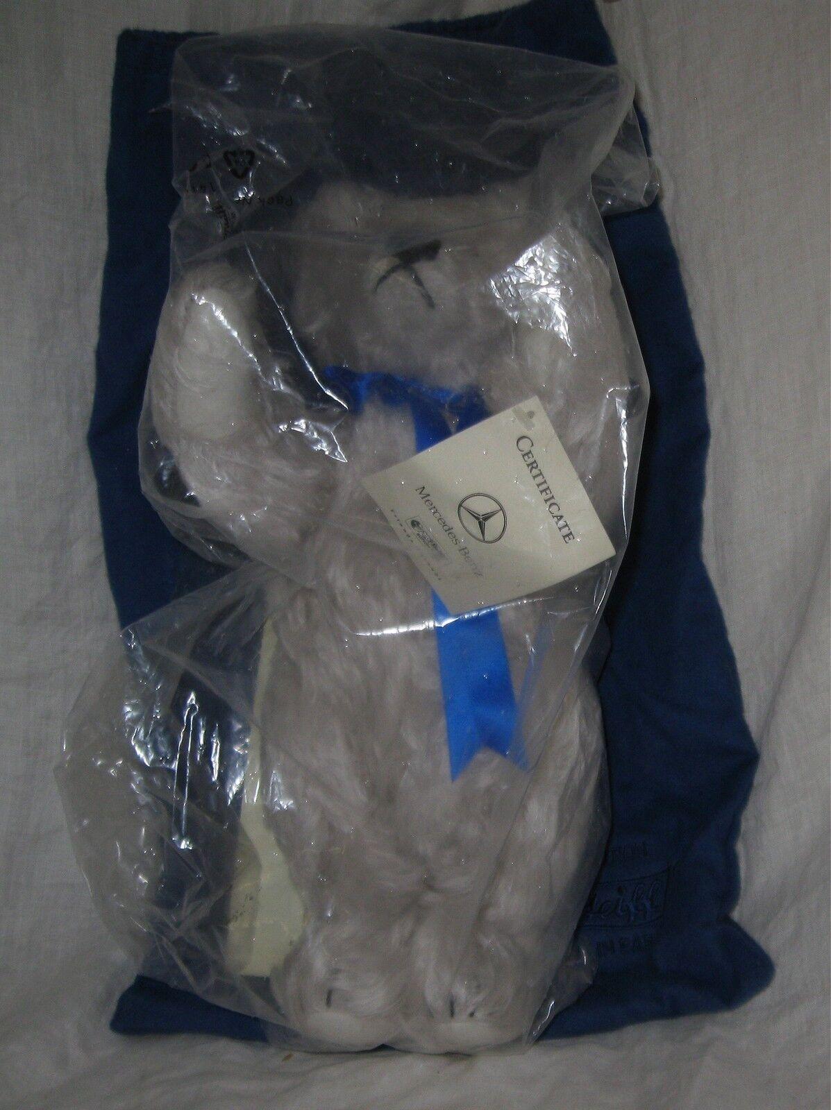 STEIFF 1999 LE Mercedes Benz Bear  665837, Jointed, Growler, Cloth Borsa, 13   NOS