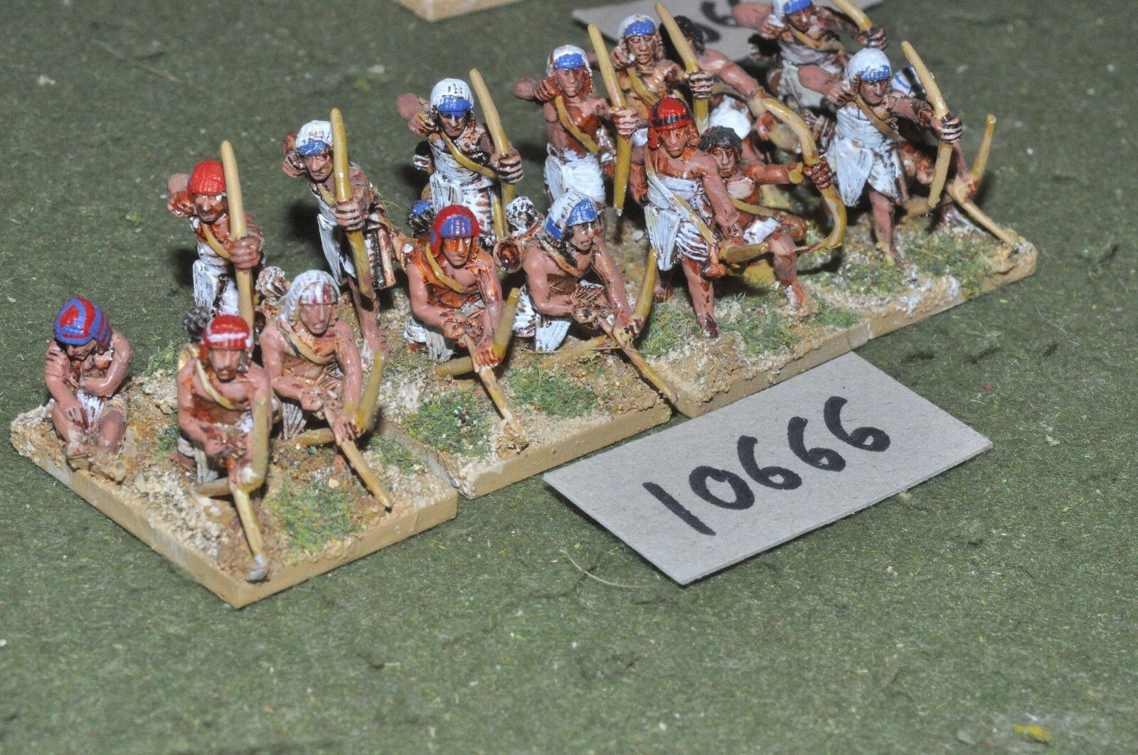 25mm biblical   egyptian - foundry archers 16 infantry - inf (10666)