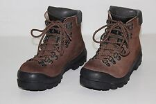 Scarpa Mens Size 38 BX US 6 Brown Leather Lace Up Backpacking Hiking Boots NICE