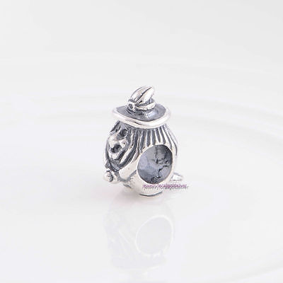 UNBRANDED 925 STERLING SILVER FLYING BROOMSTICK WITCH EUROPEAN CHARM SPACER BEAD