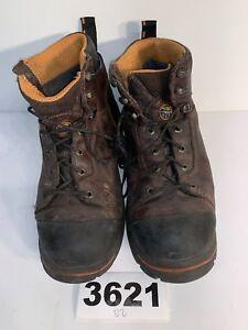 Timberland-Pro-Series-Mens-SZ12M-Brown-Work-Boots-Steel-Toe-Anti-Fatigue-3621U2