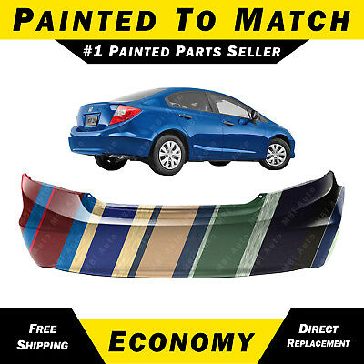 Front Bumper Cover Fascia for 2012 2013 Honda Civic Coupe 2-Door 12 13 Painted to Match HO1000282 BUMPERS THAT DELIVER