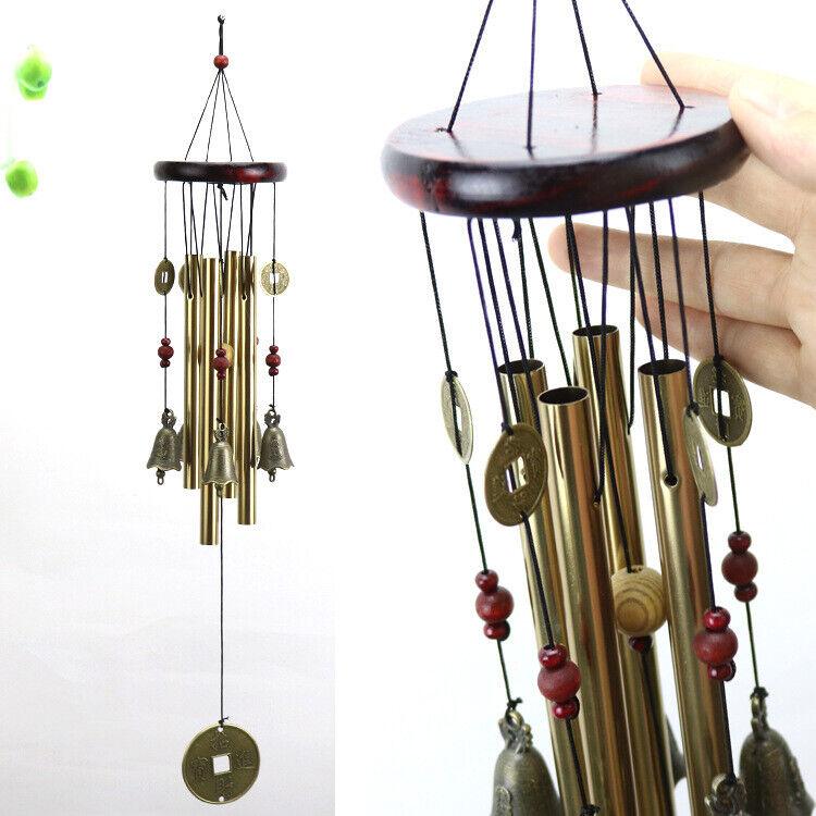Wind Copper Bells Chimes Garden Yard Outdoor Home Decor Tubes Ornamentt