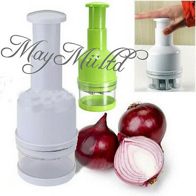 Kitchen Pressing Food Onion Garlic Vegetable Chopper Slicer Peeler Cutter G