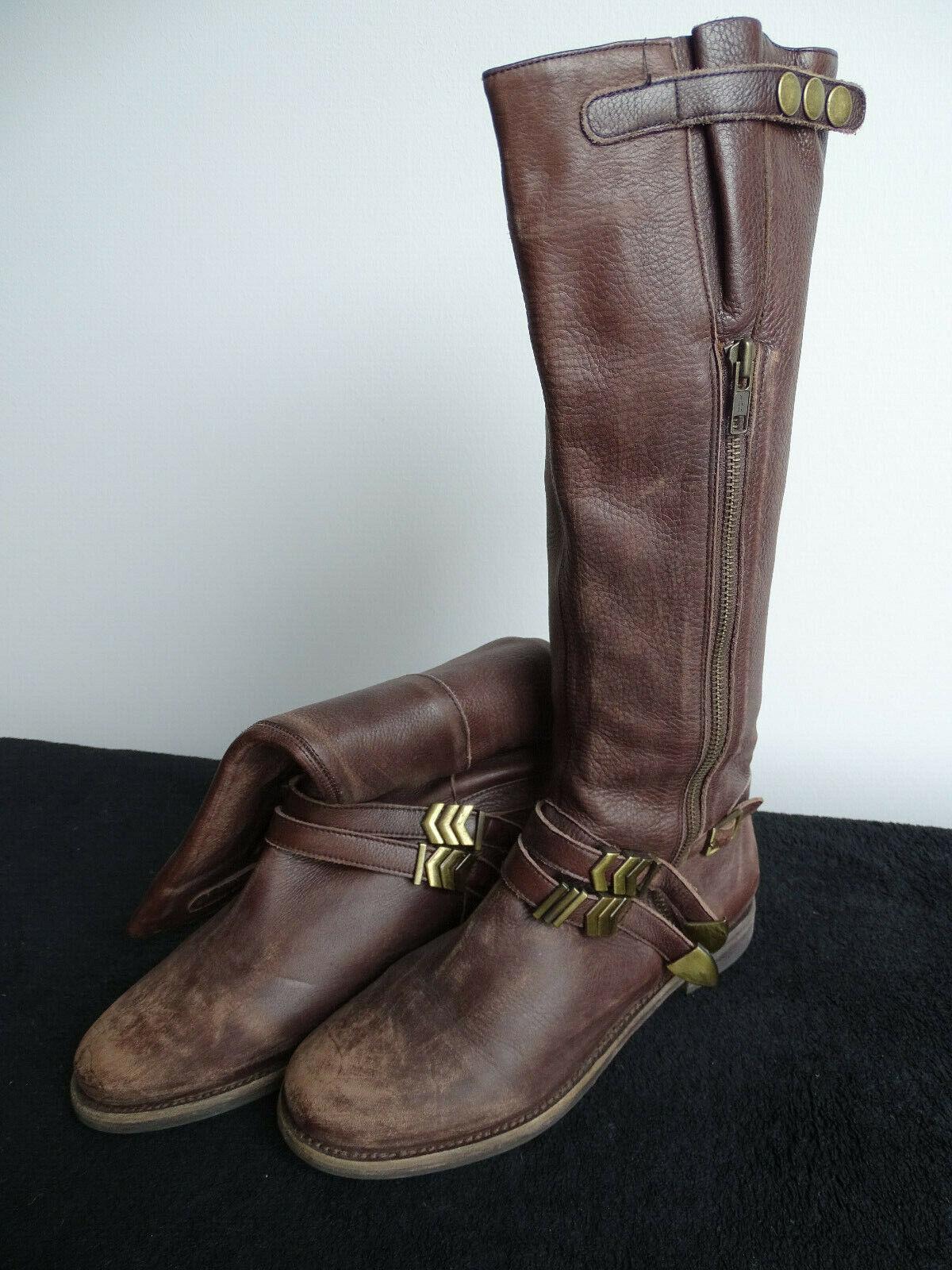 Keilabsatz Boots Braun Buffalo 39 wie neu Stiefeletten