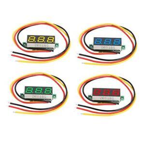 0-28-034-DC-0-100V-3-Wires-Mini-Gauge-Voltage-Meter-Voltmeter-LED-Digital-Display