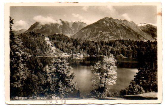 AK Freibergsee bei OBERSTDORF Allgäu gel. 1938  *VK345g