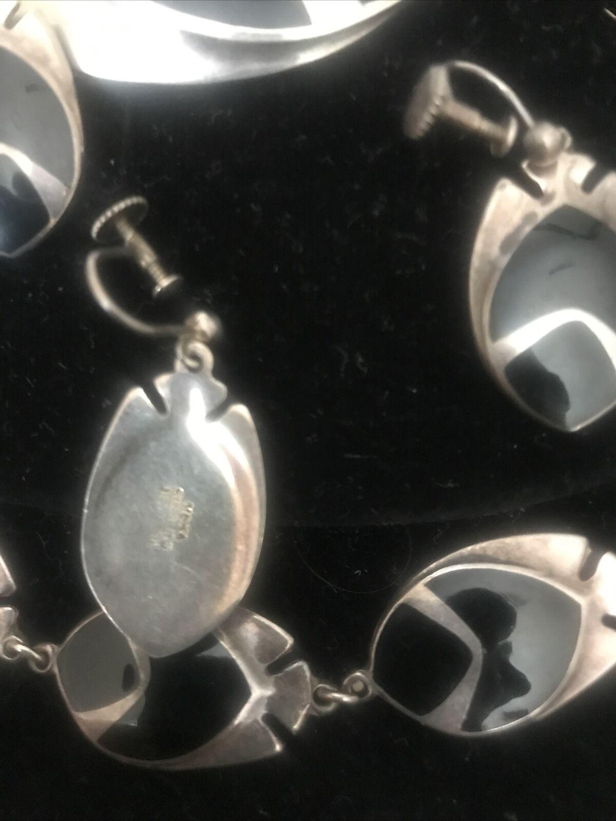 Vintage Scandinavian Jewelry Danish Sterling Silver /& Guilloch\u00e9 Art Nouveau Dangle Screw Backs MEKA Enamel Earrings