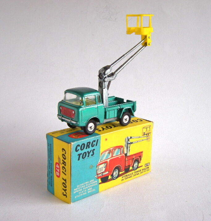 Corgi Toys 478 Vagón Torre hidráulico de control hacia adelante Jeep FC-150 MIB