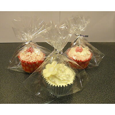 30 Cupcake Bags Cup Cake Cellophane Sweet Party Toys Gift Bags Boxes Cases