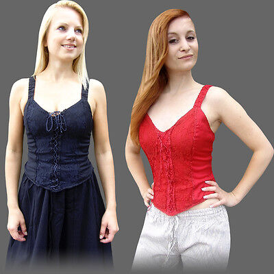 XXL Corsage Mittelalter Bluse Miedertop S GOTHIC MIEDER TOP Mittelalterbluse