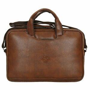 S B Leather Shoulder Sling Laptop Messenger Bag For Unisex