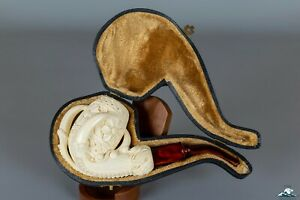 (Unsmoked) Hand-Carved Altinay Block Meerschaum Claw Freehand Shape 9mm